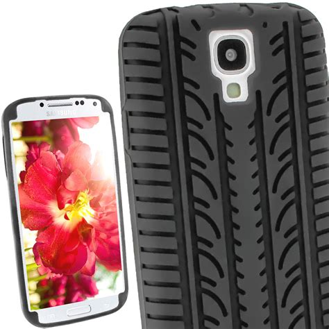 Casing Cassing Samsung Galaxy S4 I9500 Fullset igadgitz black silicone skin cover with tyre tread design for samsung galaxy s4 iv i9500