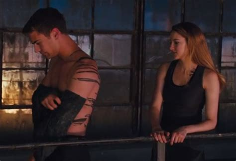 theo james divergent tattoo shailene woodley and theo really go for it in the