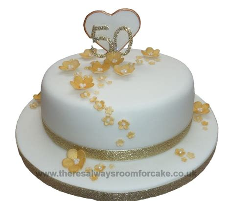 Golden Wedding Cakes by 50th Golden Wedding Anniversary Cake Food