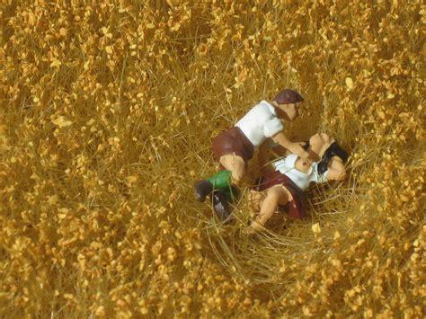 bett im kornfeld ein bett im kornfeld foto bild motive modellbau