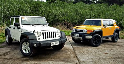 Toyota Fj Jeep by Toyota Jeep Comparison Test Jeep Wrangler Vs Toyota Fj
