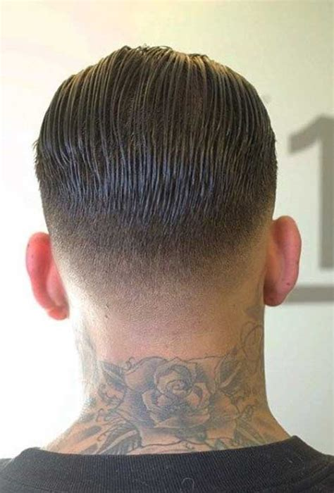 rockabilly rear view of men s haircuts mens hairstyles tapered back hair