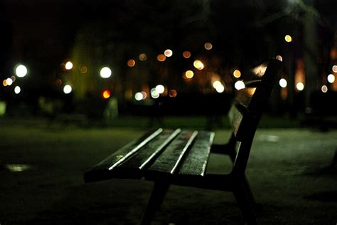 bench at night lonely park bench at night public domain free photos for