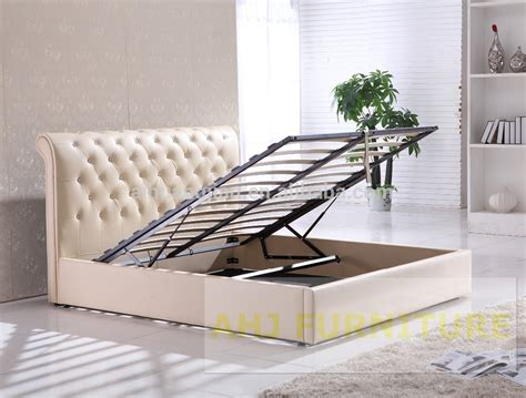 Hydraulic Lift Storage Bed by Hydraulic Lift Up Storage Bed Storage Bed Frame With Gas