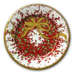 pepperberry christmas wreath dinner plates paperstyle