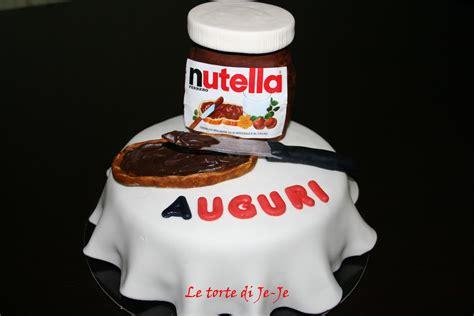 le torte  je je torta barattolo nutella