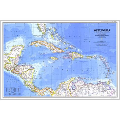 west indies political map 1981 west indies and central america map national