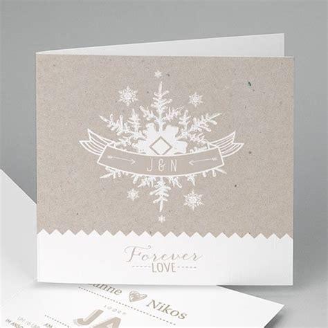 Hochzeitseinladung Winter by Hochzeitseinladungen Modern Winter Carteland De