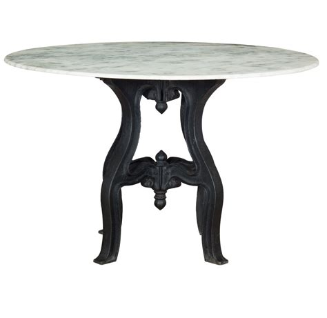 industrial white marble top dining table 48