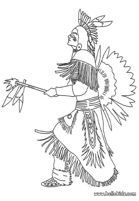 indian chief coloring page indian chief coloring pages hellokids com