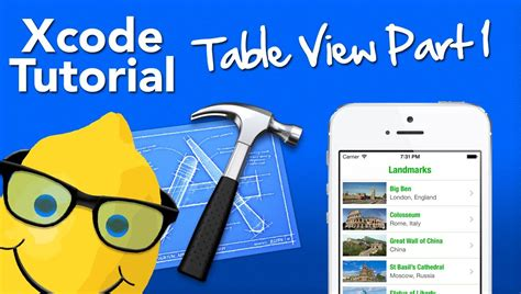 tutorial xcode 6 1 1 xcode 5 tutorial table view part 1 populating the tab