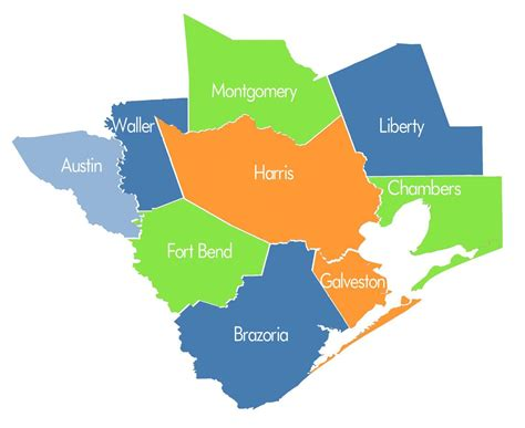 houston texas counties map houston county map my