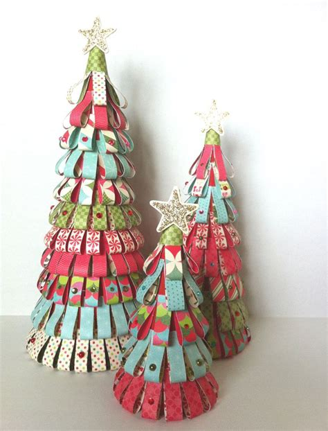 paper tree cones christmas pinterest