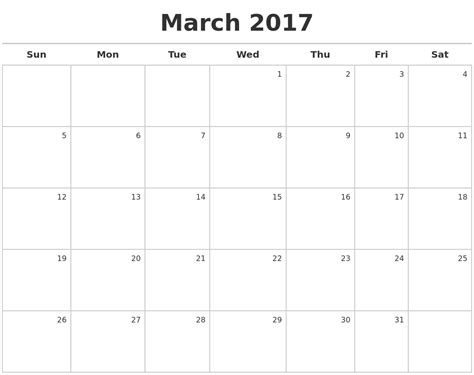 Calendar For March March Calendars