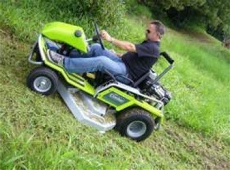 lawn mowers  steep slopes tyresc