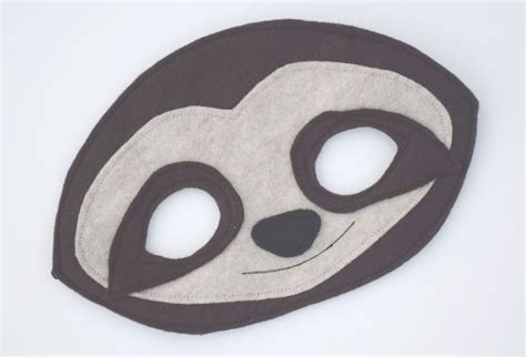 sloth mask template printable 17 best images about rainforest education on pinterest