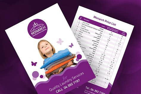 flyer design dubai monarch laundry dubai bradning by fahad khalid graphic
