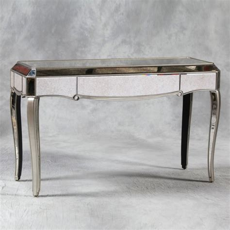 mirrored sofa table furniture venetian antiqued glass mirrored console table