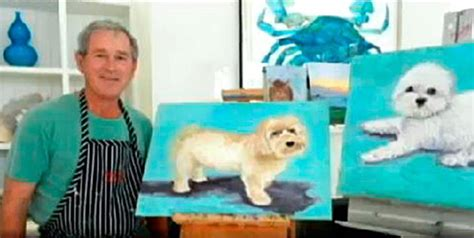bush bathtub painting george w bush gives painting advice quot never paint your