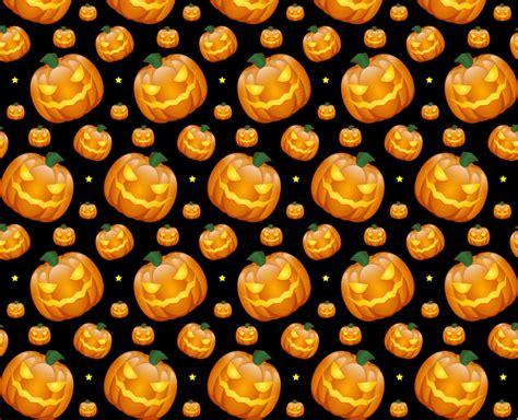 halloween pumpkin  seamless vector pattern creative