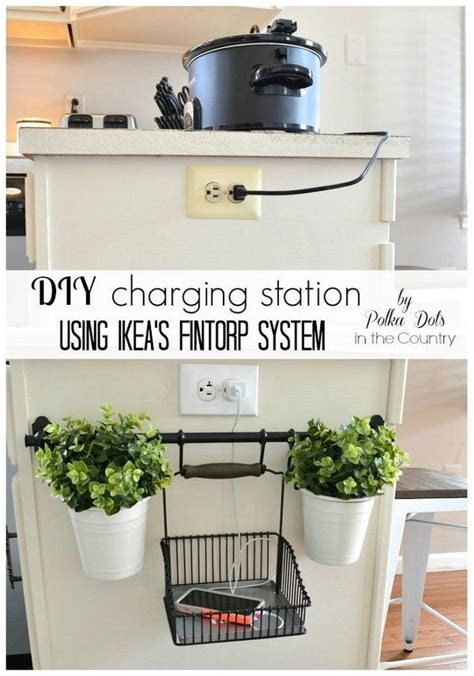 diy charging station ideas 20 creative kitchen organization and diy storage ideas