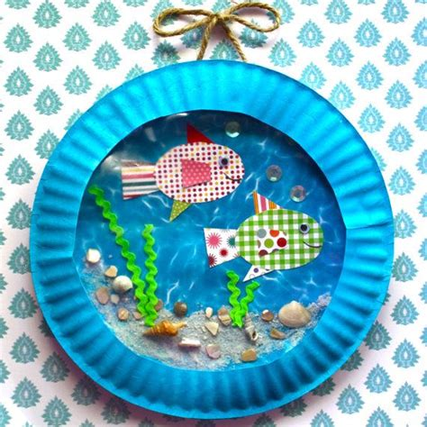 Paper Plate Aquarium Craft - fish aquarium the only paper plate project that might be
