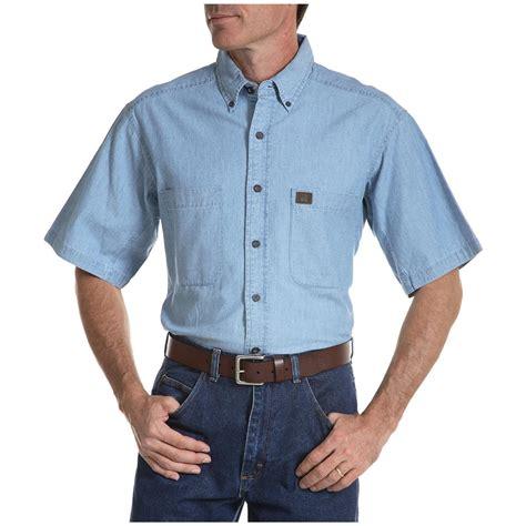 Men S Carhartt 174 Long Sleeve Chambray Work Shirt 282602