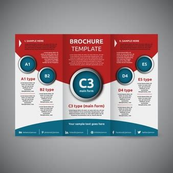 brochure trifold template folded paper vectors photos and psd files free