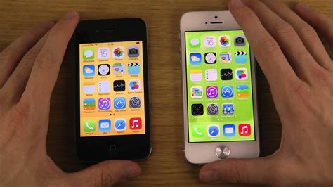 a iphone 4 iphone 5 ios 7 gm vs iphone 4 ios 7 gm opening apps speed test