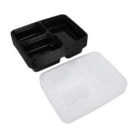 lunch box containers reusable 10x 1000ml bpa free meal prep container plastic food storage lunch box ebay
