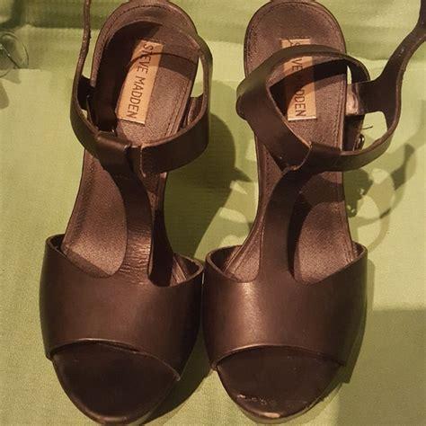 60 steve madden shoes steve madden black leather summer sandals 8 from elizabeth s closet