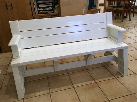 converta bench convert a bench it s a picnic table and a bench