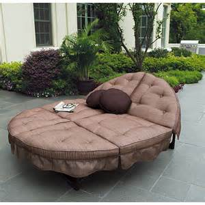 Chaise Lounge Outdoor Replacement Cushions Mainstays Sand Dune Orbit Double Lounger Patio Furniture