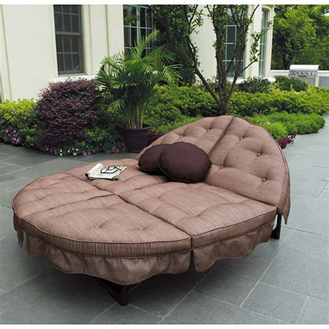 orbit chaise lounge replacement cushions mainstays sand dune orbit double lounger patio furniture
