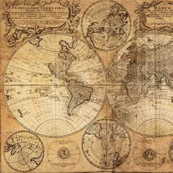 Vintage World Maps by Vintage World Map Canvas Print