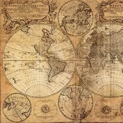 Home vintage world map canvas print