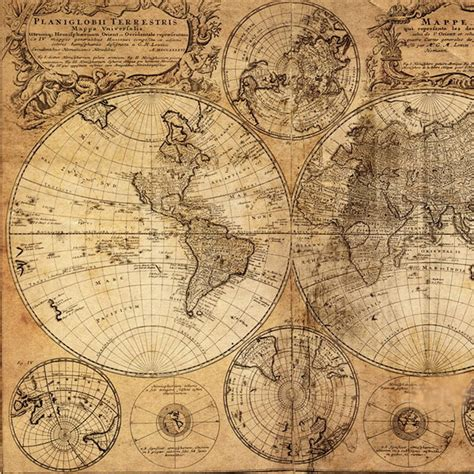 Floor And Decor Coupon by Vintage World Map Canvas Print