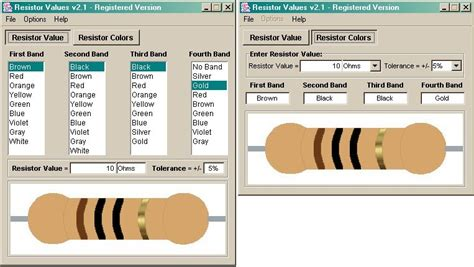 resistor values v2 1 resistor values v2 1 shareware resistor values is an electrical engineering program
