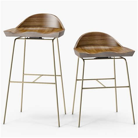 Mid Century Low Stool by Furniture Mid Century Modern Gray Low Back Bar Stools For