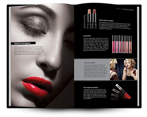 design flyer on mac m a c make up brochure on behance