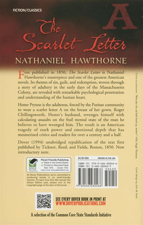 theme of redemption in the scarlet letter the scarlet letter paperback book 940l english teacher
