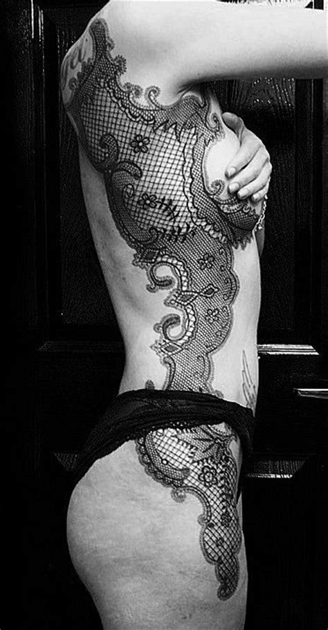 side boob tattoo pain 81 best lace tattoos images on mandala