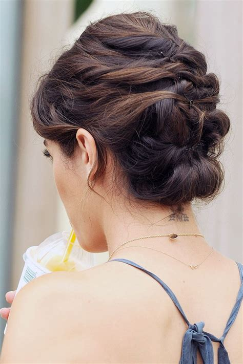 elegant hairstyles for christmas party brunette updo for thin hair wedding pinterest