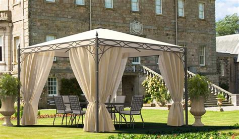 metal gazebo with curtains romano gazebo gazebos