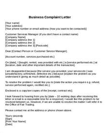 Complaint Business Letter Pdf Sle Formal Complaint Letter 7 Exles In Word Pdf