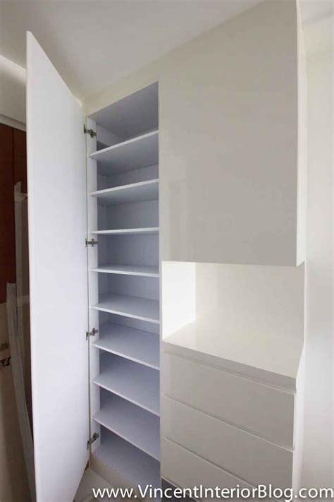 Flat Front Kitchen Cabinets bto 3 room hdb renovation by interior designer ben ng