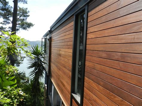 wood paneling exterior ipe siding and ipe decking project contemporary