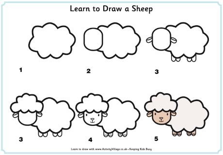 how to a sheep how to draw a sheep drawing