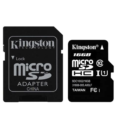 i card kingston 16gb microsdhc class 10 uhs i with 80 mbps speed