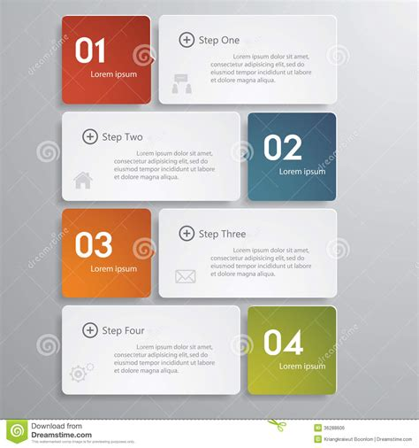 design clean number banners template timeline royalty